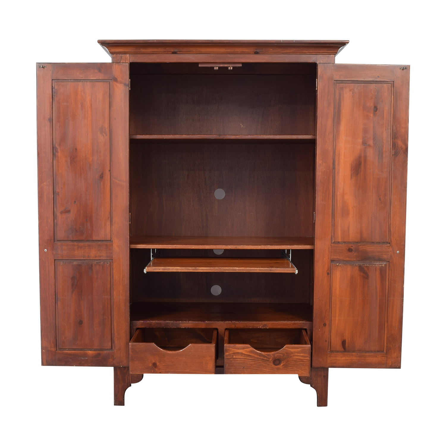 buy Office Armoire Computer Hutch