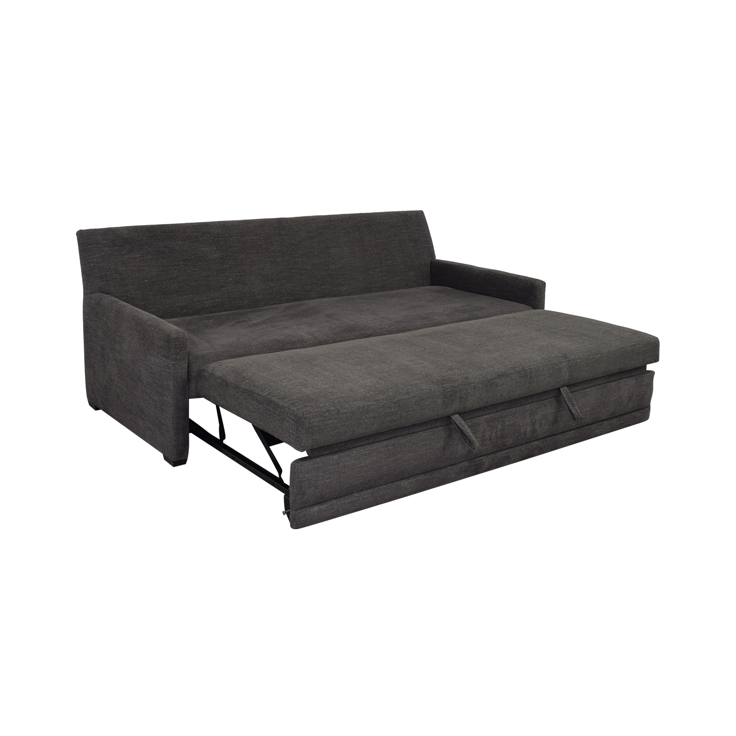 Crate & Barrel Crate & Barrel Reston Queen Trundle Sleeper Sofa Grey