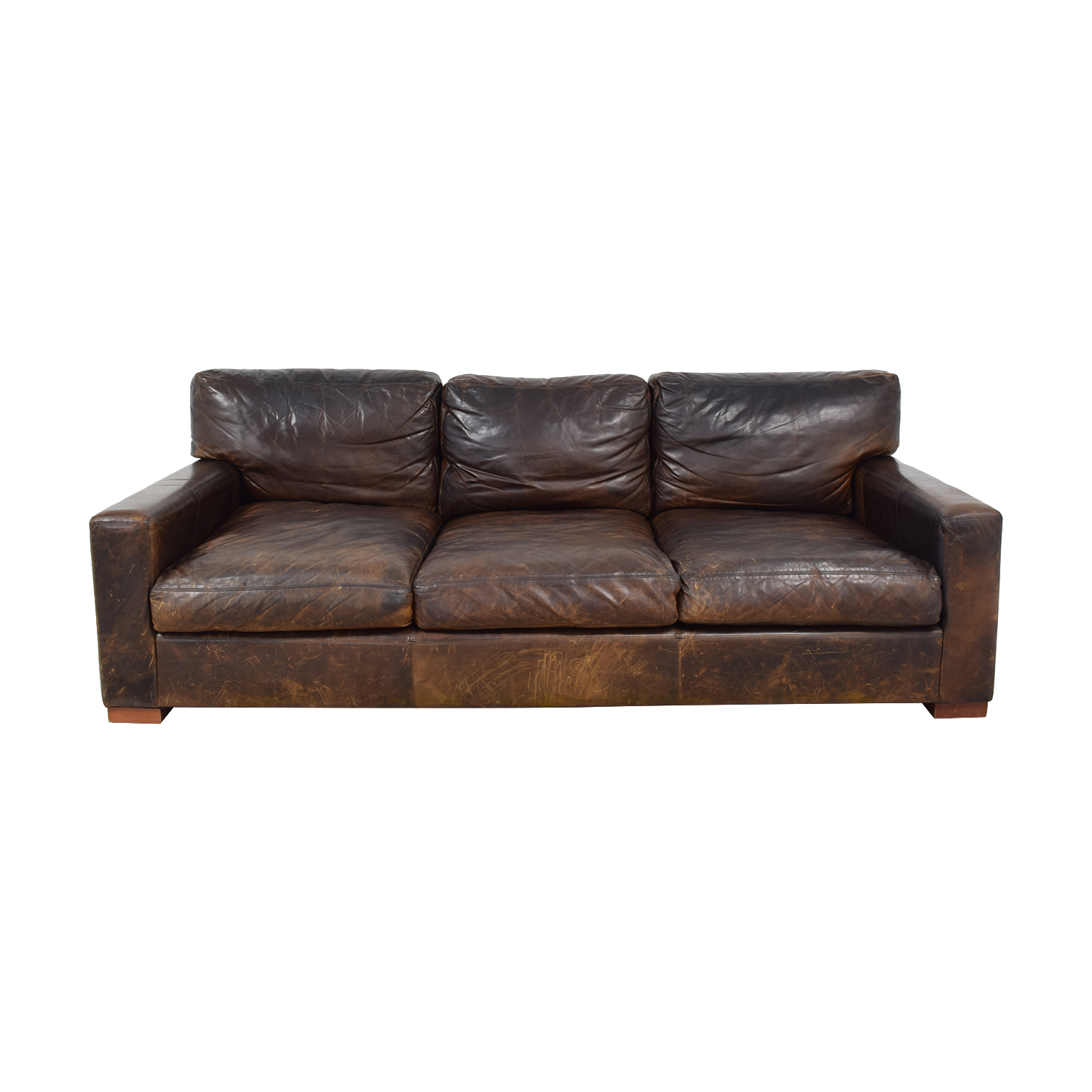 Restoration Hardware Restoration Hardware Original Lancaster Leather Sofa on sale