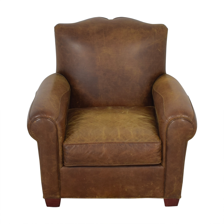 shop Zagaroli Classics Leather Club Chair Zagaroli Classics Accent Chairs