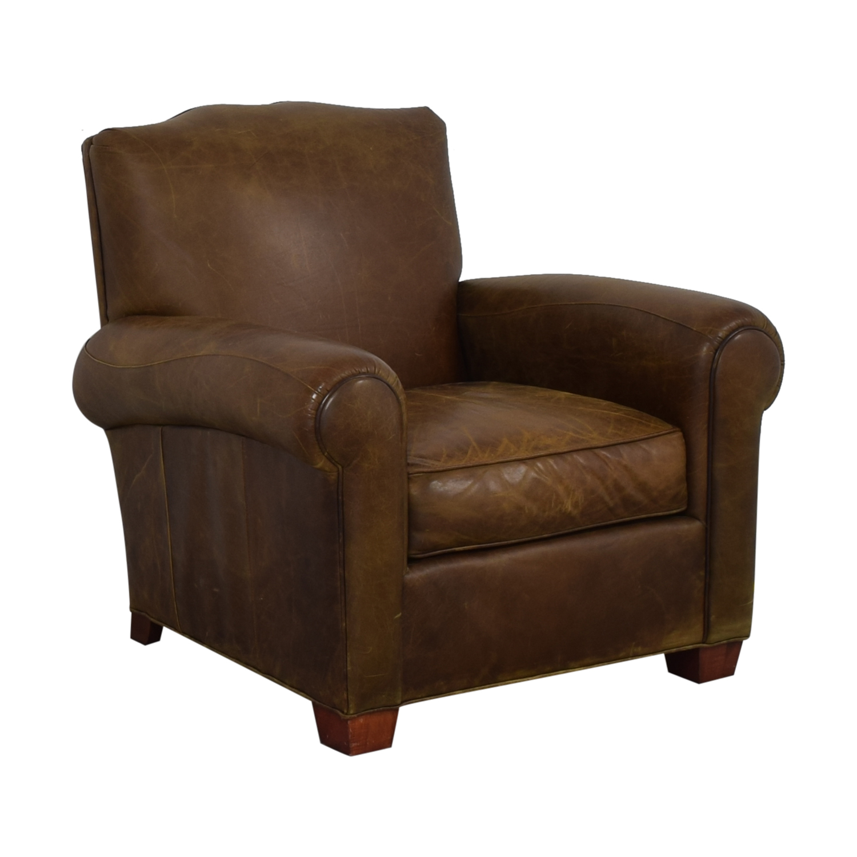 shop Zagaroli Classics Leather Club Chair Zagaroli Classics