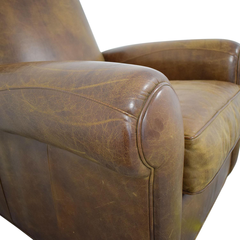 Zagaroli Classics Zagaroli Classics Leather Club Reclining Chair on sale