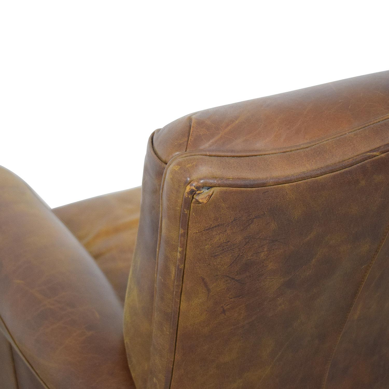 shop Zagaroli Classics Leather Club Reclining Chair Zagaroli Classics