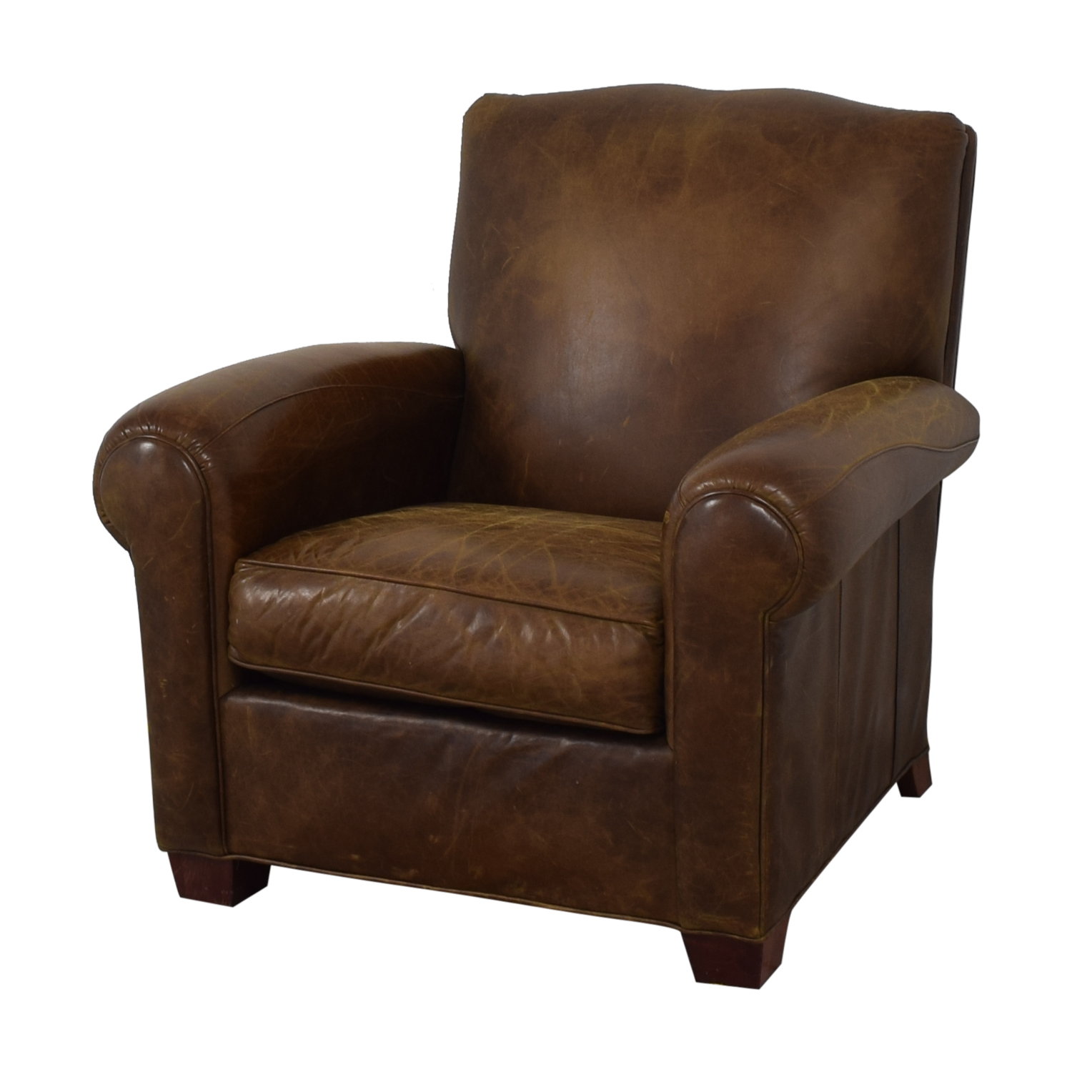 Zagaroli Classics Leather Club Reclining Chair Zagaroli Classics