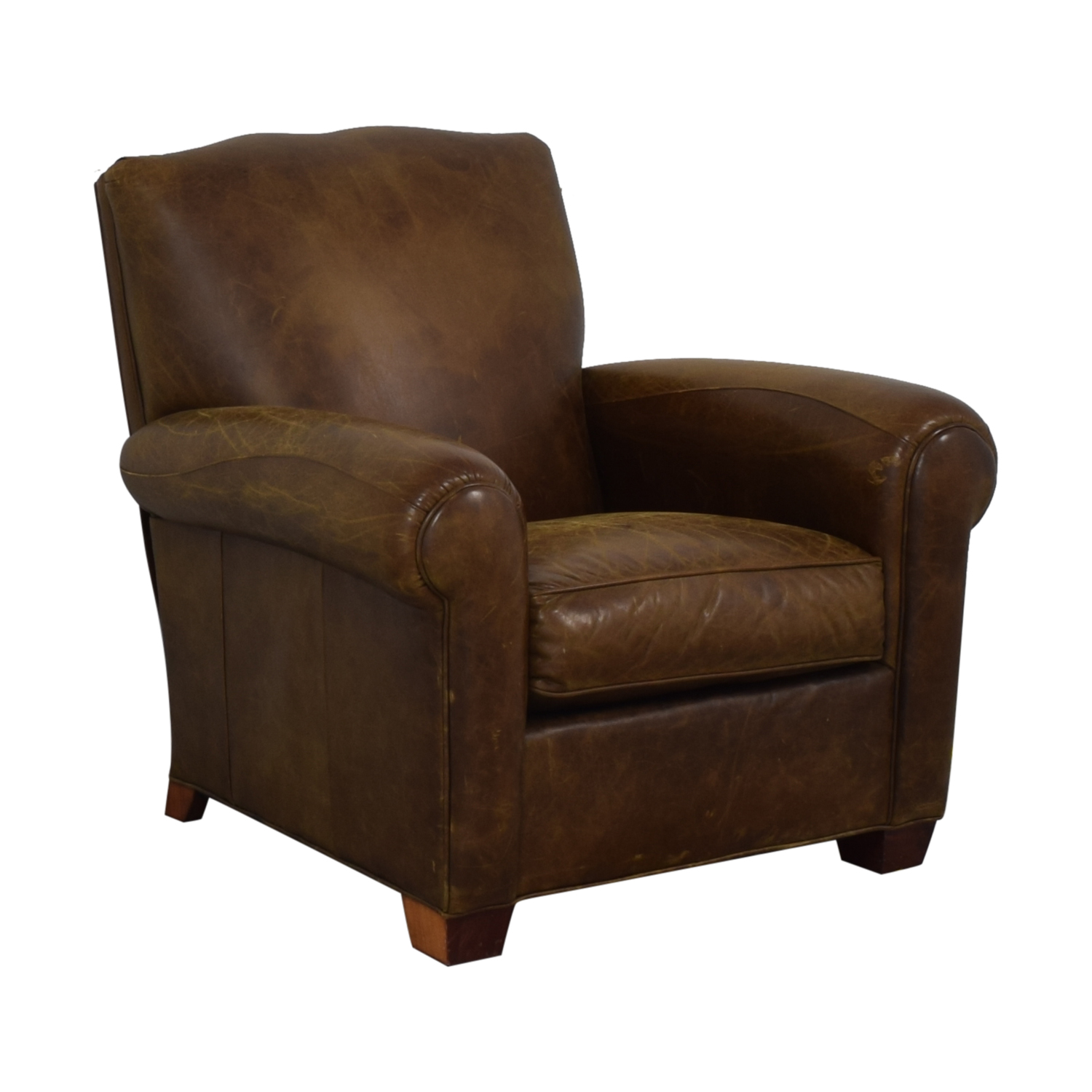 Zagaroli Classics Zagaroli Classics Leather Club Reclining Chair dimensions
