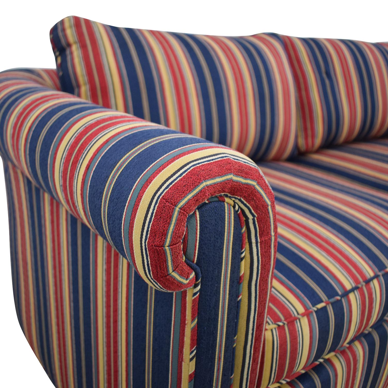Striped Two Cushion Loveseat dimensions