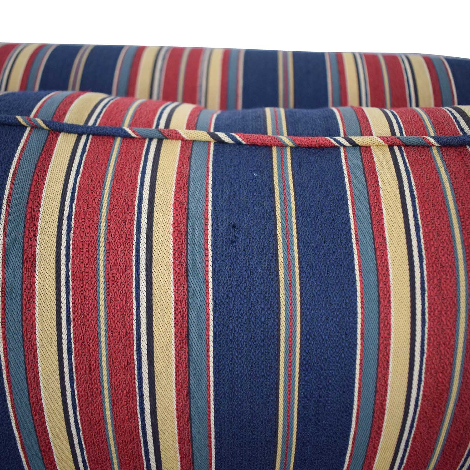 buy  Striped Two Cushion Loveseat online