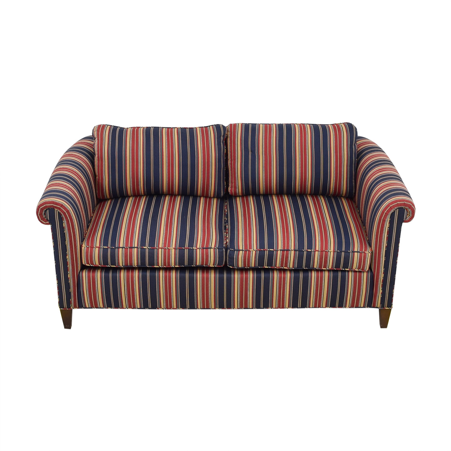 shop Striped Two Cushion Loveseat  Loveseats