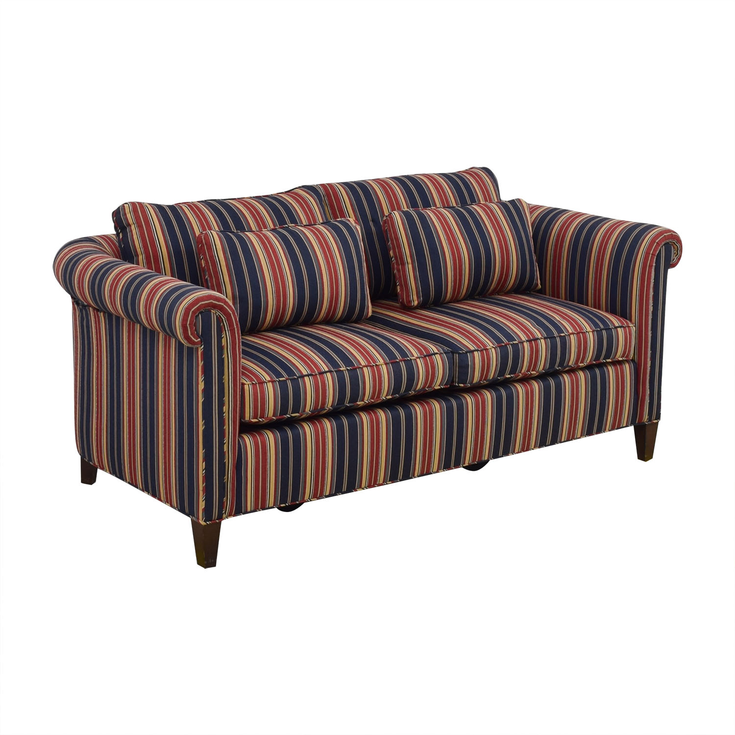 Striped Two Cushion Loveseat