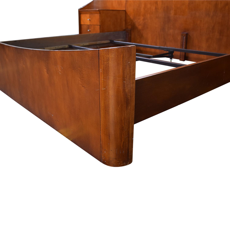 Raymour & Flanigan Raymour & Flanigan Teakwood King Bed dimensions