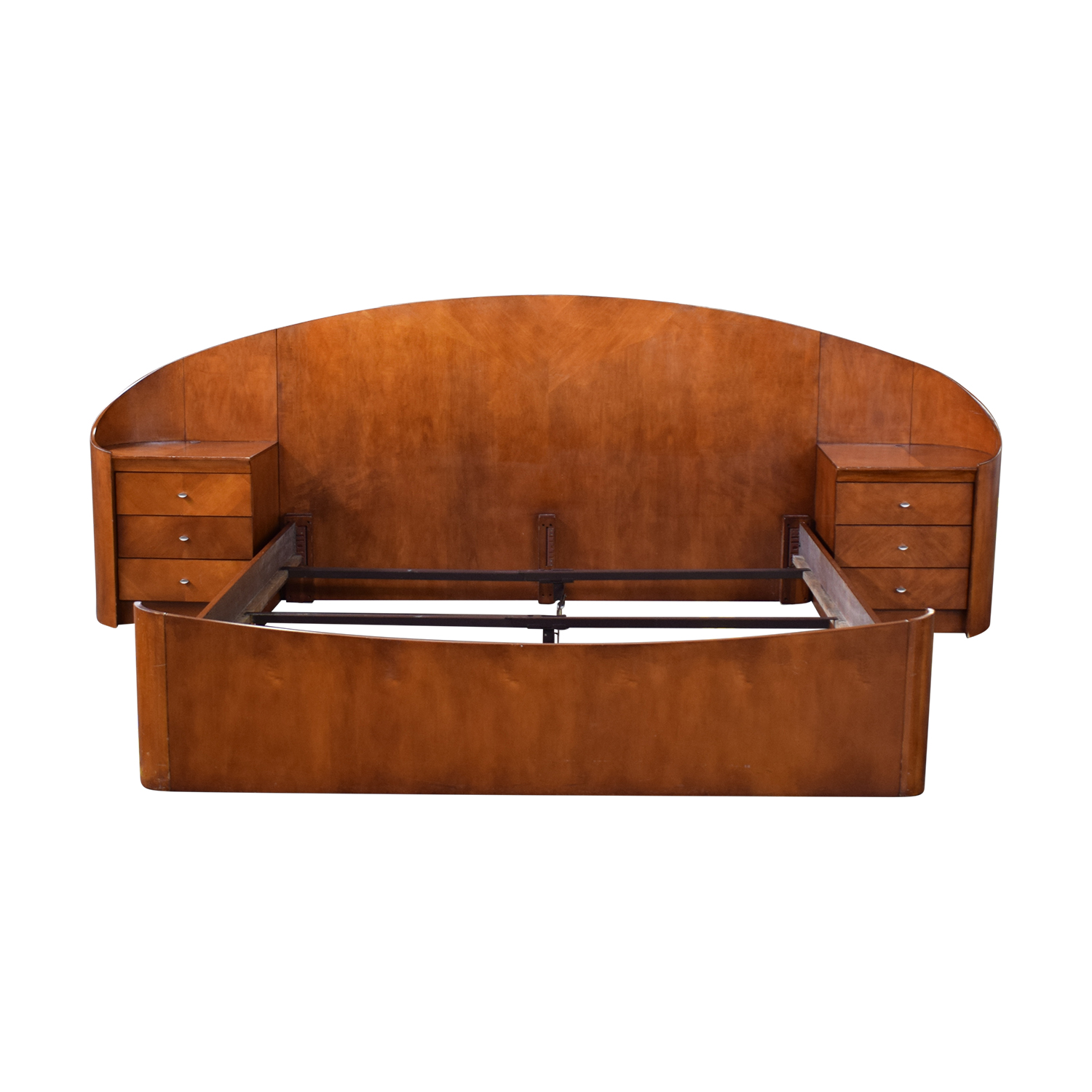 Raymour & Flanigan Raymour & Flanigan Teakwood King Bed dimensions