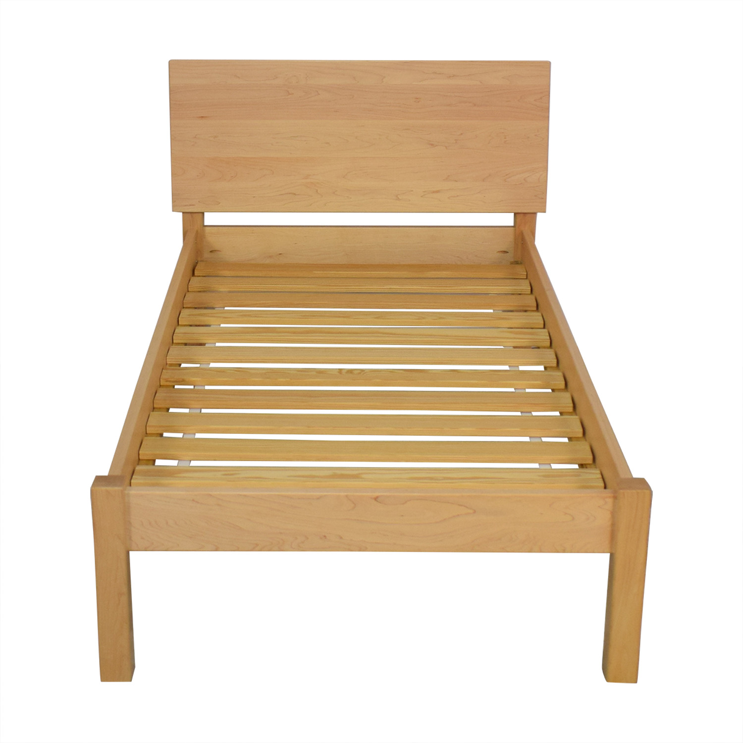 Twin Bed Frame.62 Off Room Board Room Board Maple Pogo Twin Bed Frame Beds