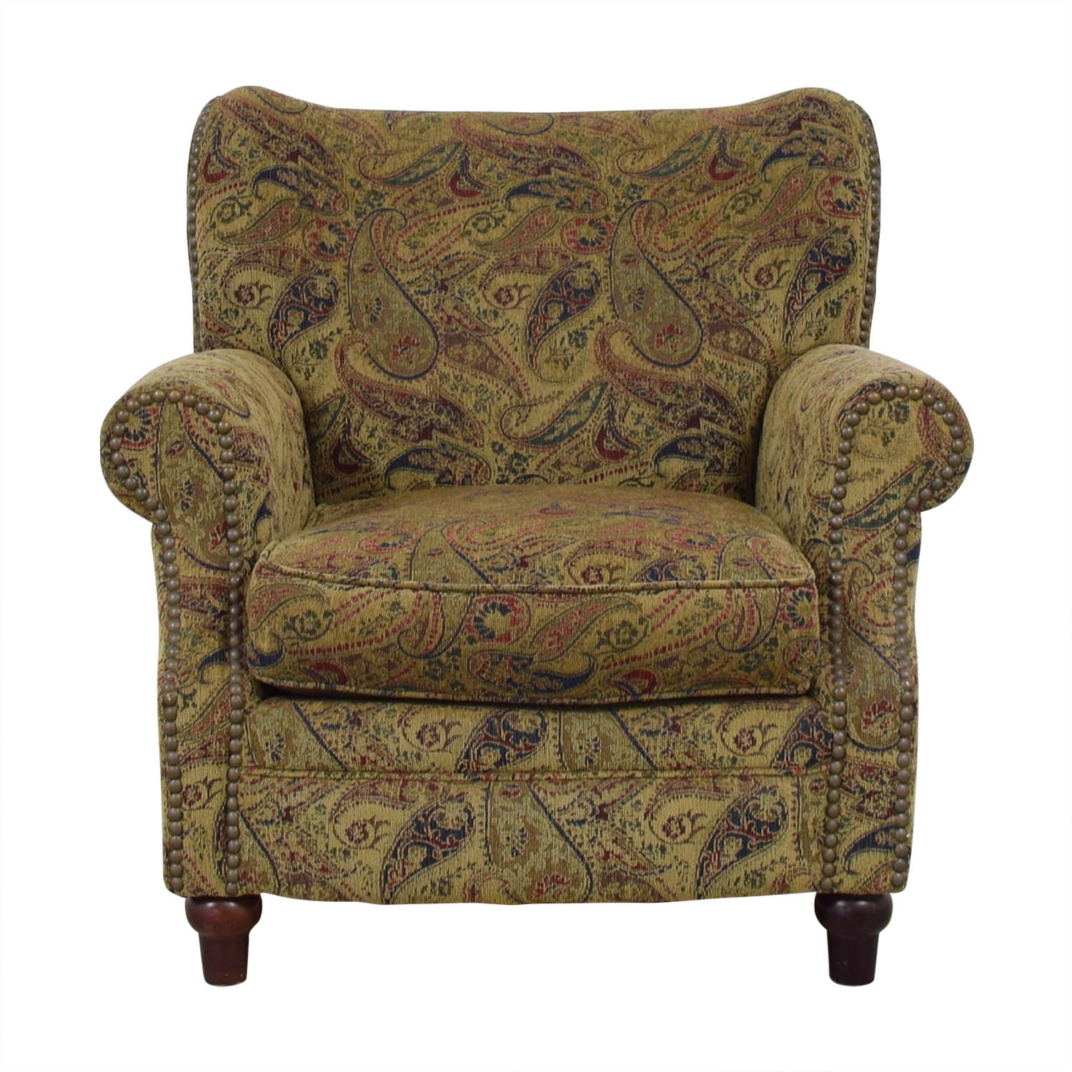 Rowe Furniture Nailhead Paisley Accent Chair sale