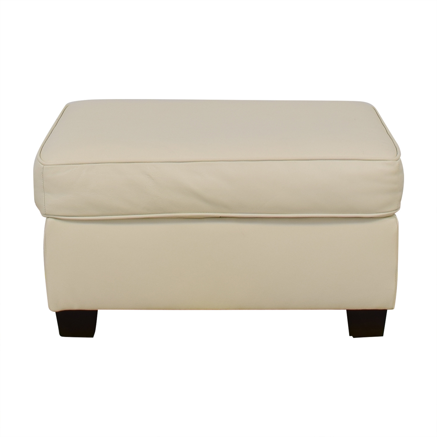 buy West Elm Henry Leather Ottoman West Elm Ottomans