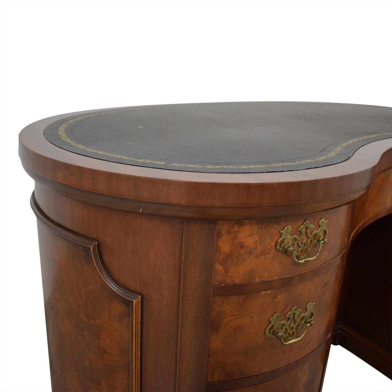 Antique Leather Top Desk Tables
