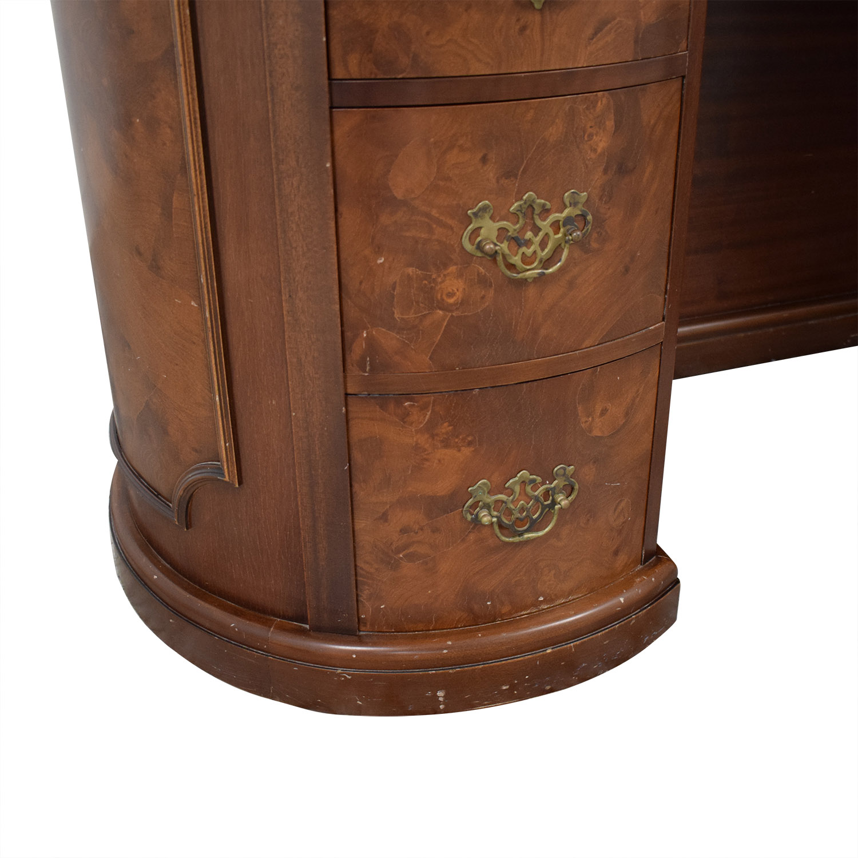 Antique Leather Top Desk brown