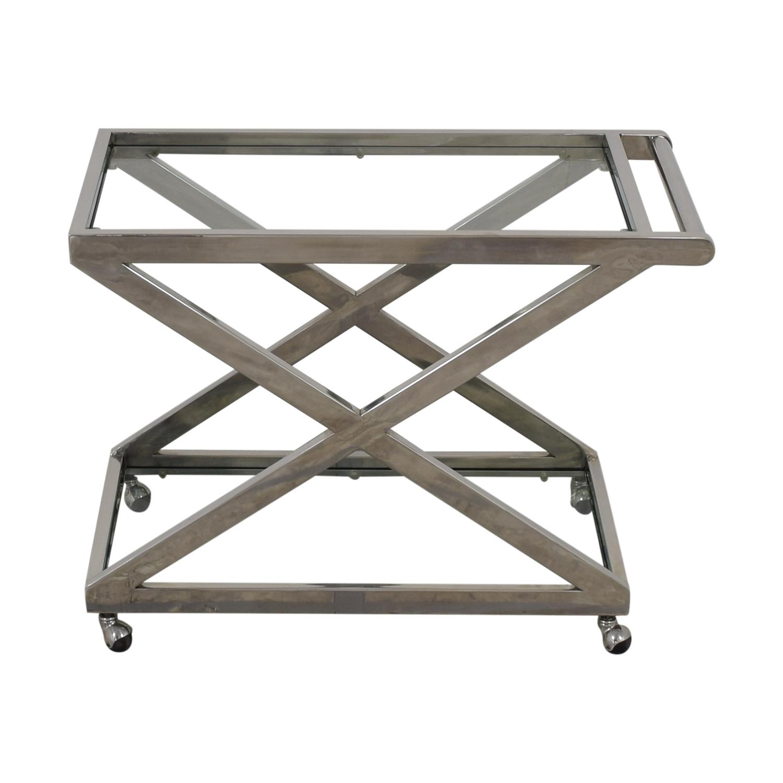shop Restoration Hardware 1950s Milo Bar Cart Restoration Hardware Tables
