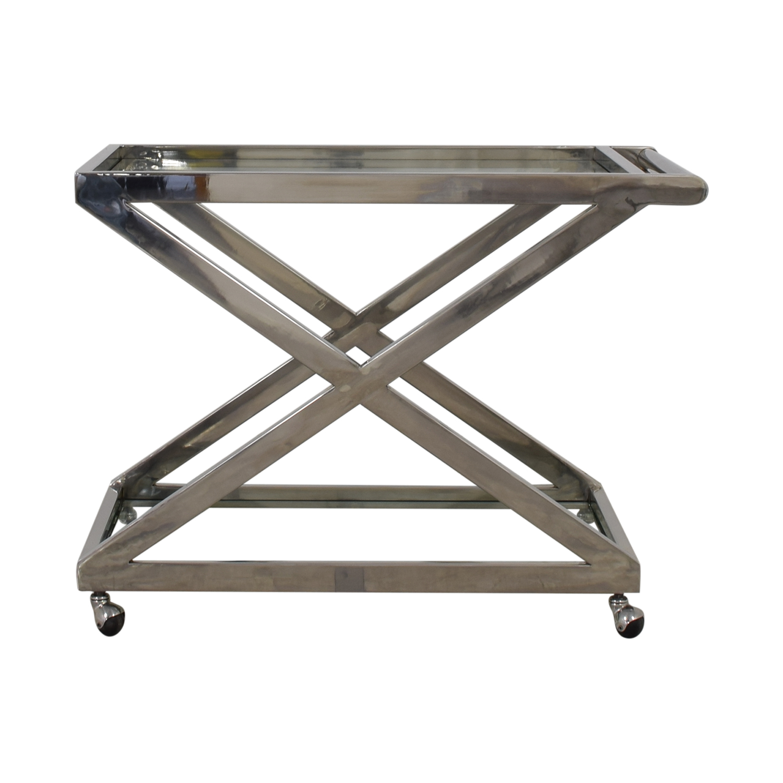 Restoration Hardware 1950s Milo Bar Cart sale