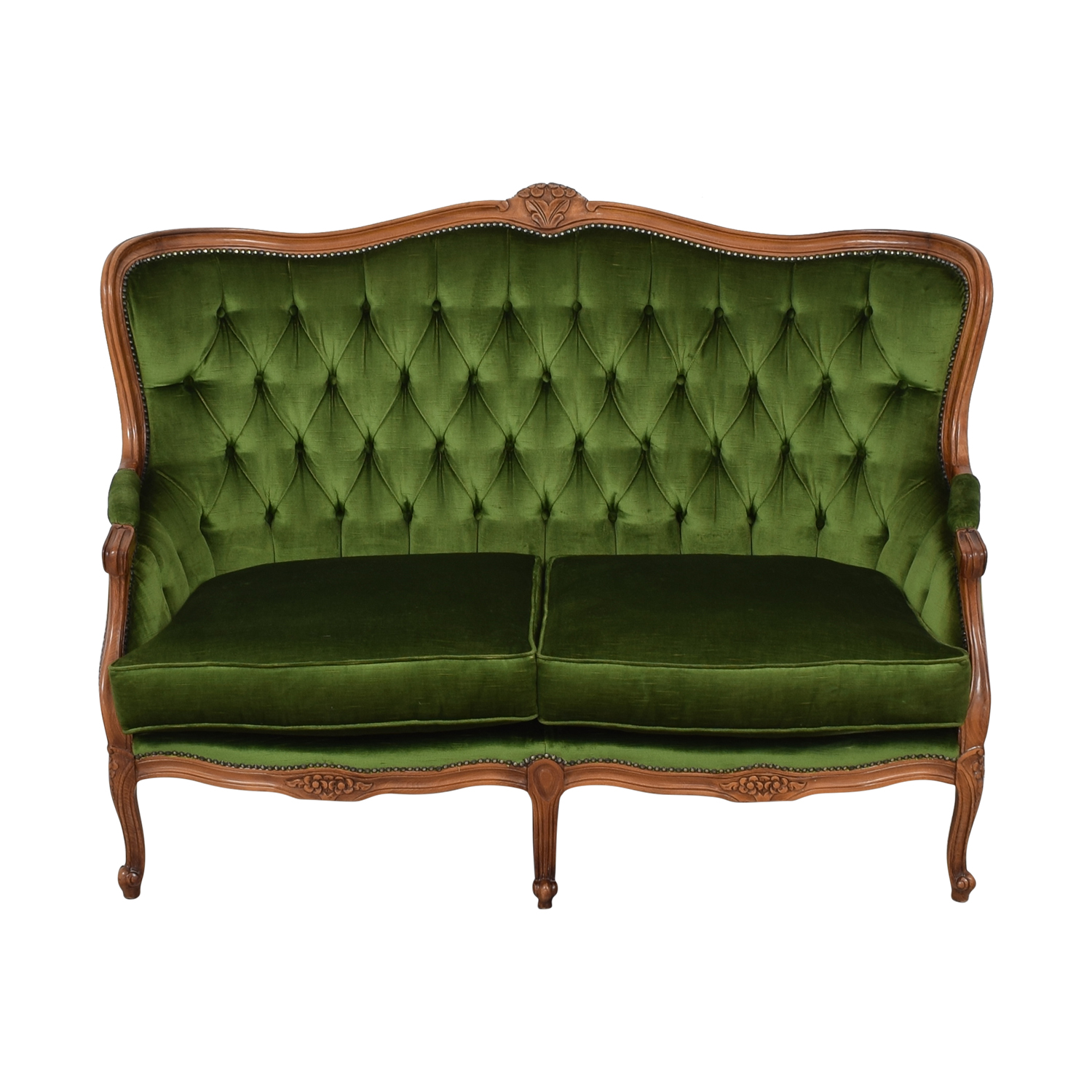 Marvelous 74 Off Biedermeier Biedermeier Green Cabriole Sofa Sofas Ncnpc Chair Design For Home Ncnpcorg