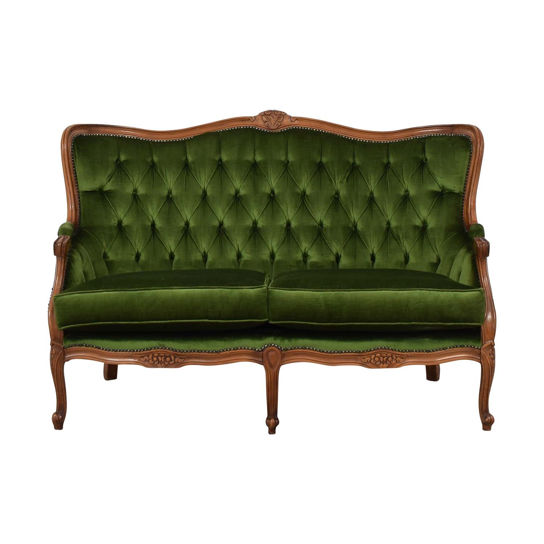 Biedermeier Biedermeier Green Cabriole Sofa