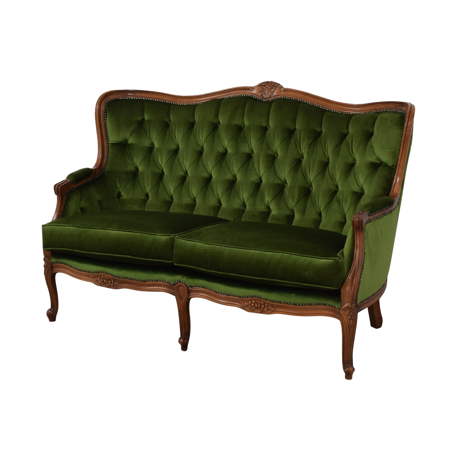 Fabulous 74 Off Biedermeier Biedermeier Green Cabriole Sofa Sofas Ncnpc Chair Design For Home Ncnpcorg