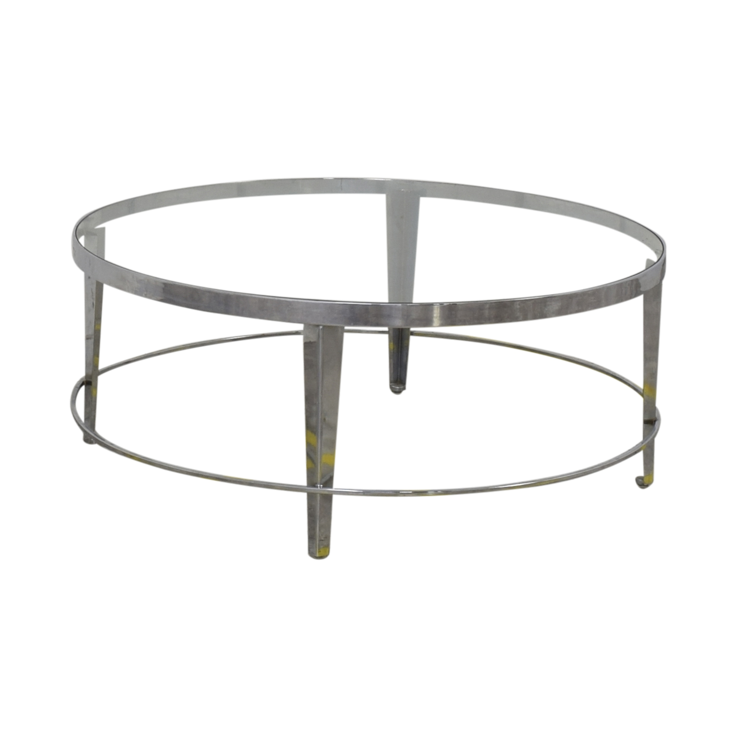 shop Bloomingdale's Round Glass Top Coffee Table Bloomingdale's Tables
