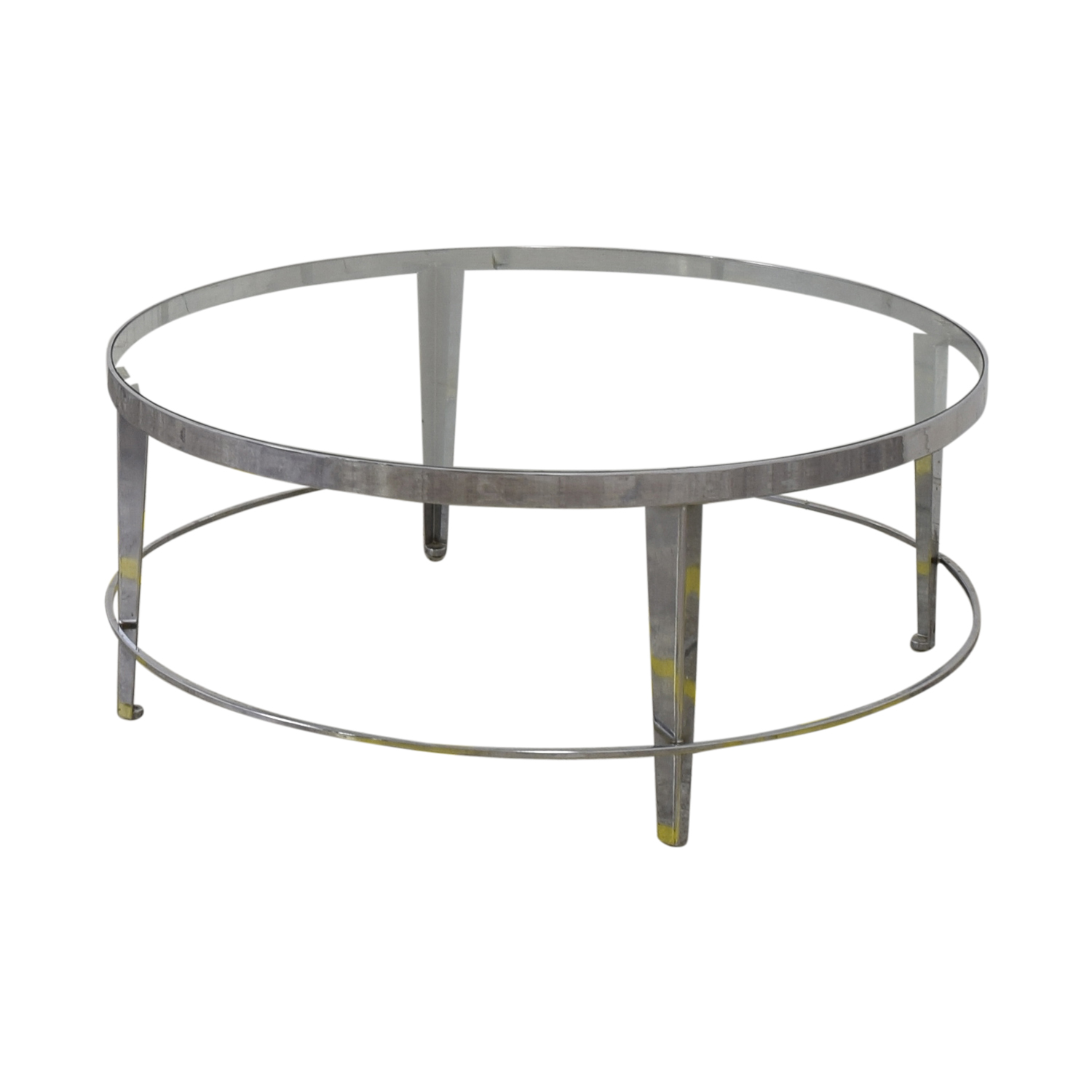 shop Bloomingdale's Round Glass Top Coffee Table Bloomingdale's Coffee Tables