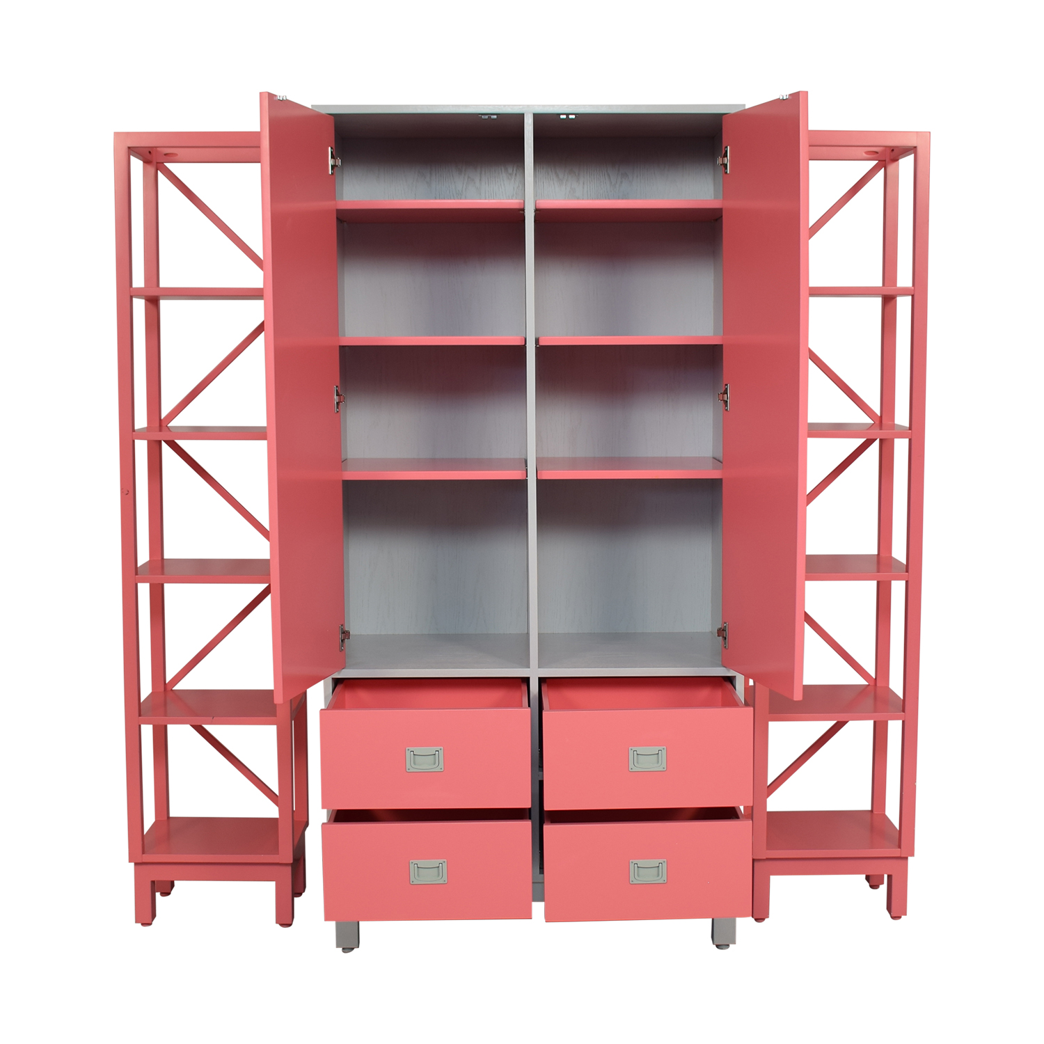 Ducduc Ducduc Campaign Armoire with Side Shelves