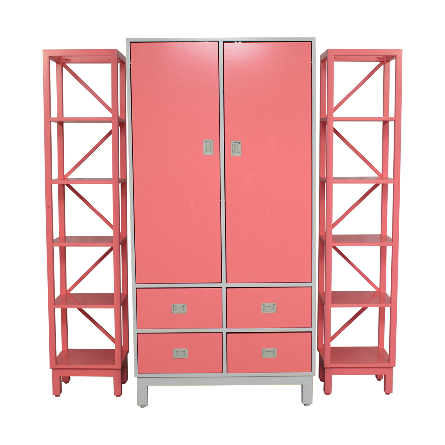 buy Ducduc Campaign Armoire with Side Shelves Ducduc Wardrobes & Armoires