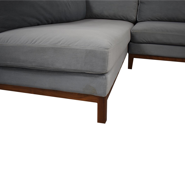 Interior Define Interior Define Jasper Chaise Sectional Sofa on sale