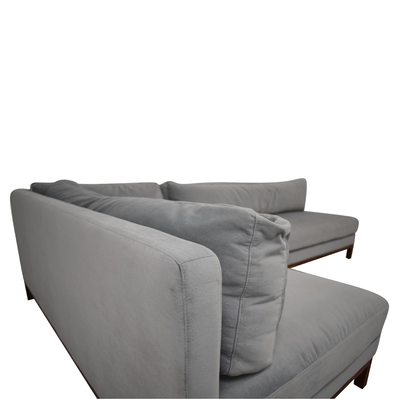 shop Interior Define Jasper Chaise Sectional Sofa Interior Define Sofas