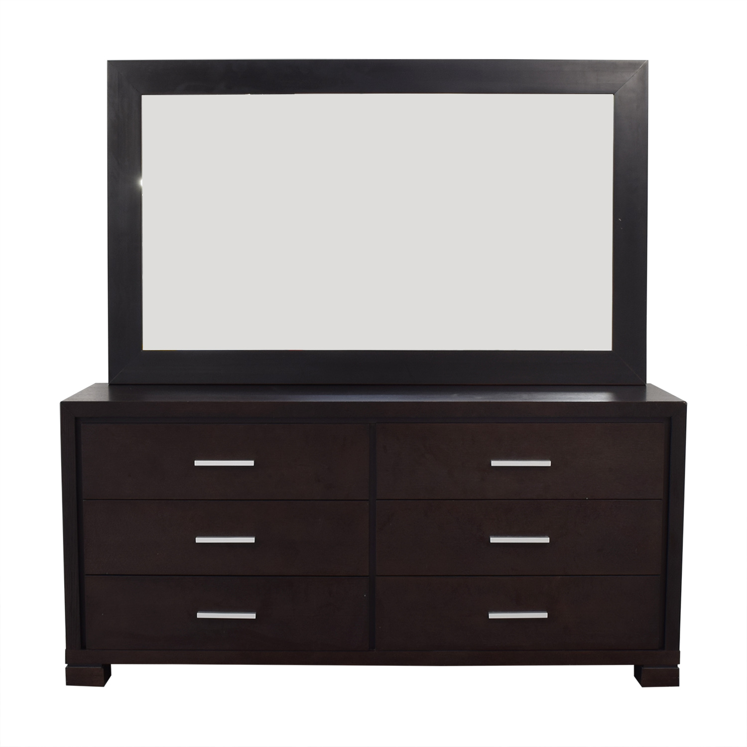 shop Dark Wood Dresser and Matching Mirror