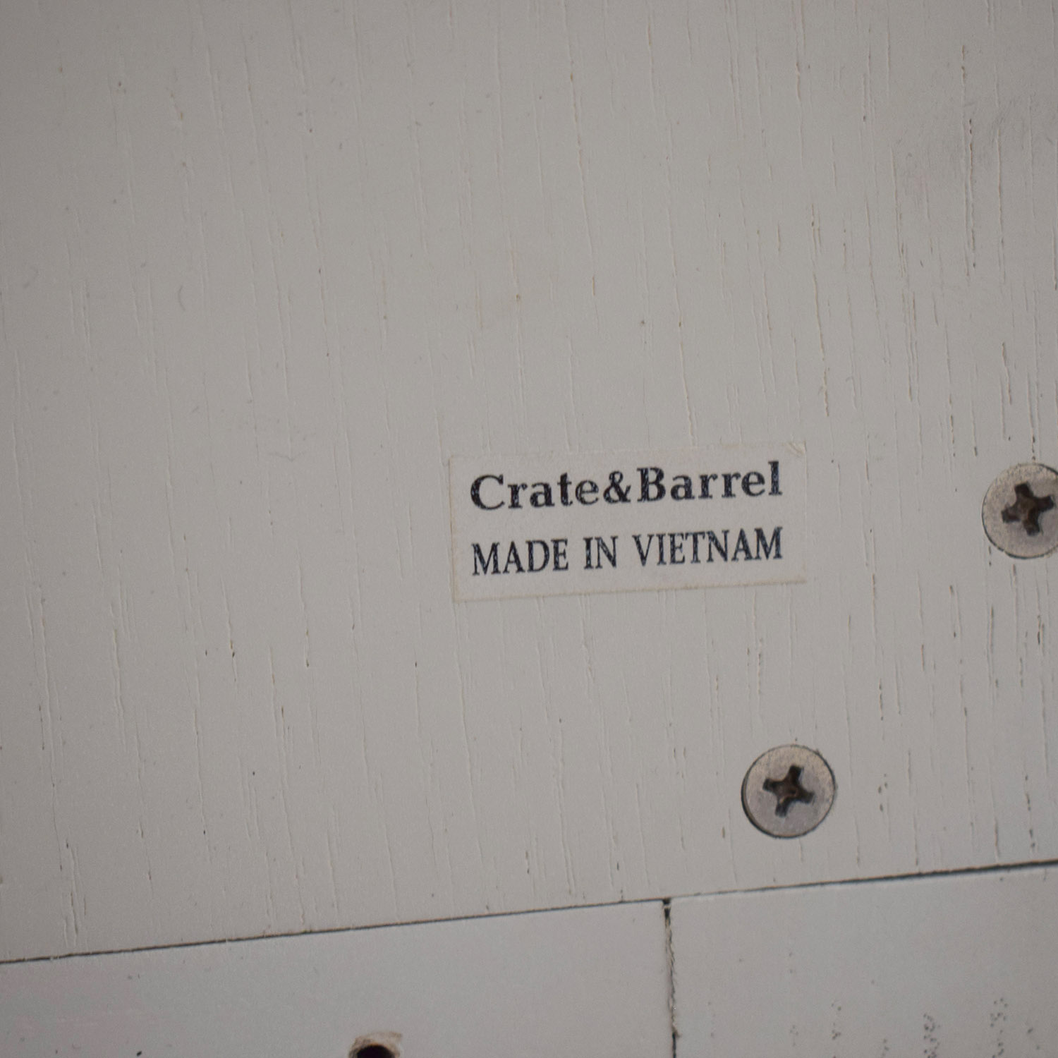 Crate & Barrel White Armoire sale