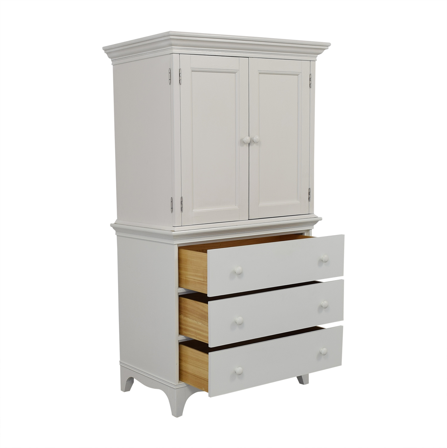 buy Crate & Barrel Crate & Barrel White Armoire online