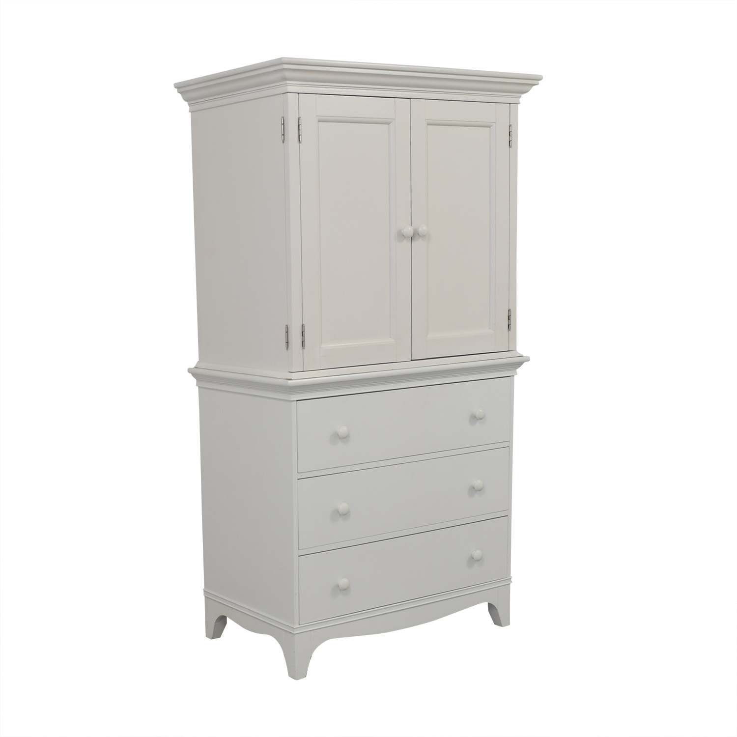 Crate & Barrel Crate & Barrel White Armoire second hand