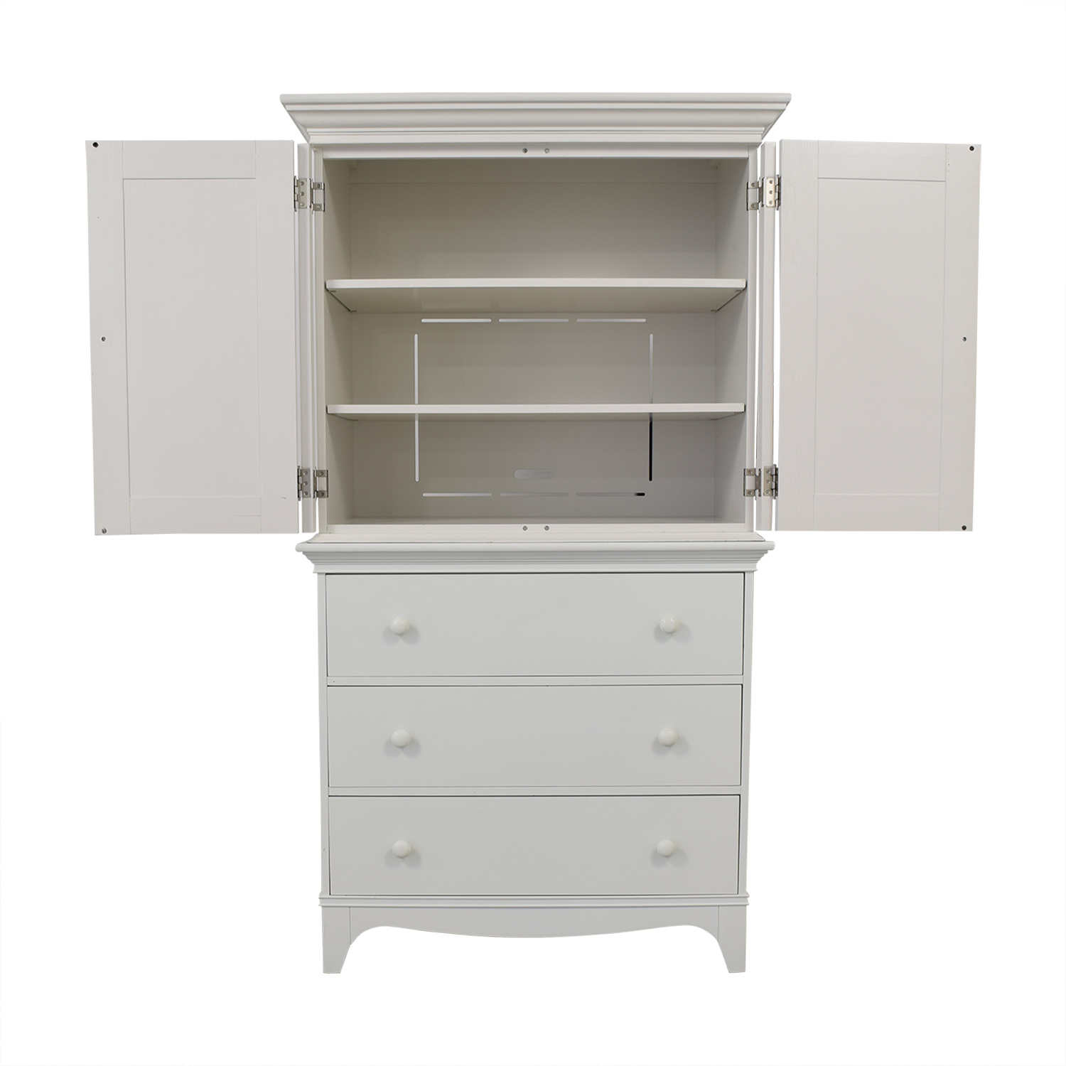 buy Crate & Barrel White Armoire Crate & Barrel
