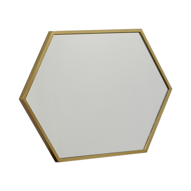 West Elm Hex Framed Mirror / Mirrors
