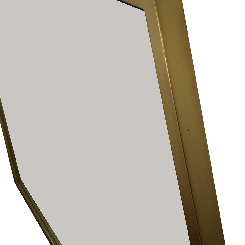 West Elm Hex Framed Mirror sale
