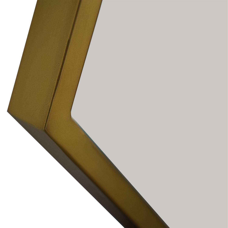 West Elm Hex Framed Mirror / Decor