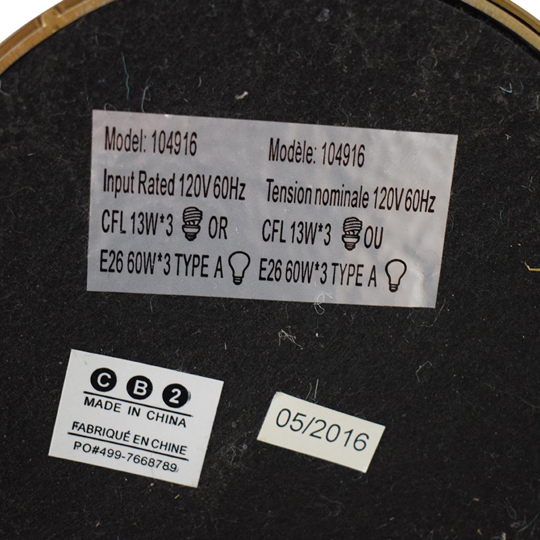 CB2 CB2 Trio Floor Lamp nj