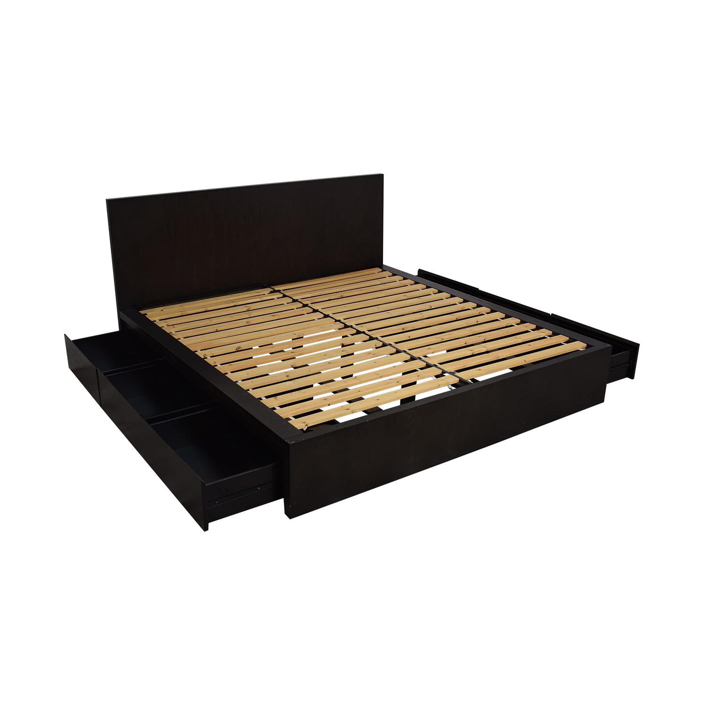 buy West Elm King Storage Bed Frame West Elm Bed Frames