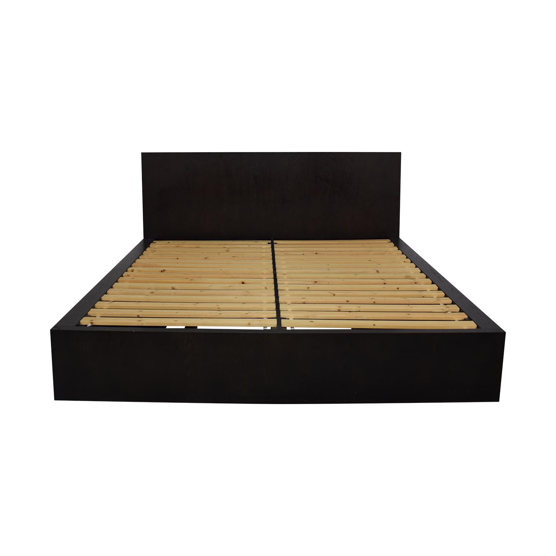 West Elm King Storage Bed Frame sale