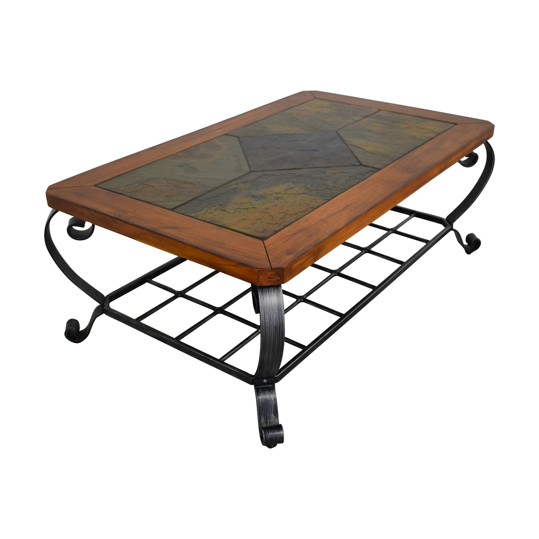 shop Raymour & Flanigan Tile Top Coffee Table Raymour & Flanigan