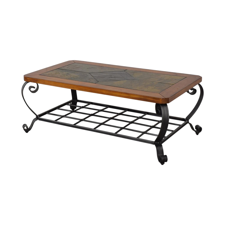 Raymour & Flanigan Raymour & Flanigan Tile Top Coffee Table on sale