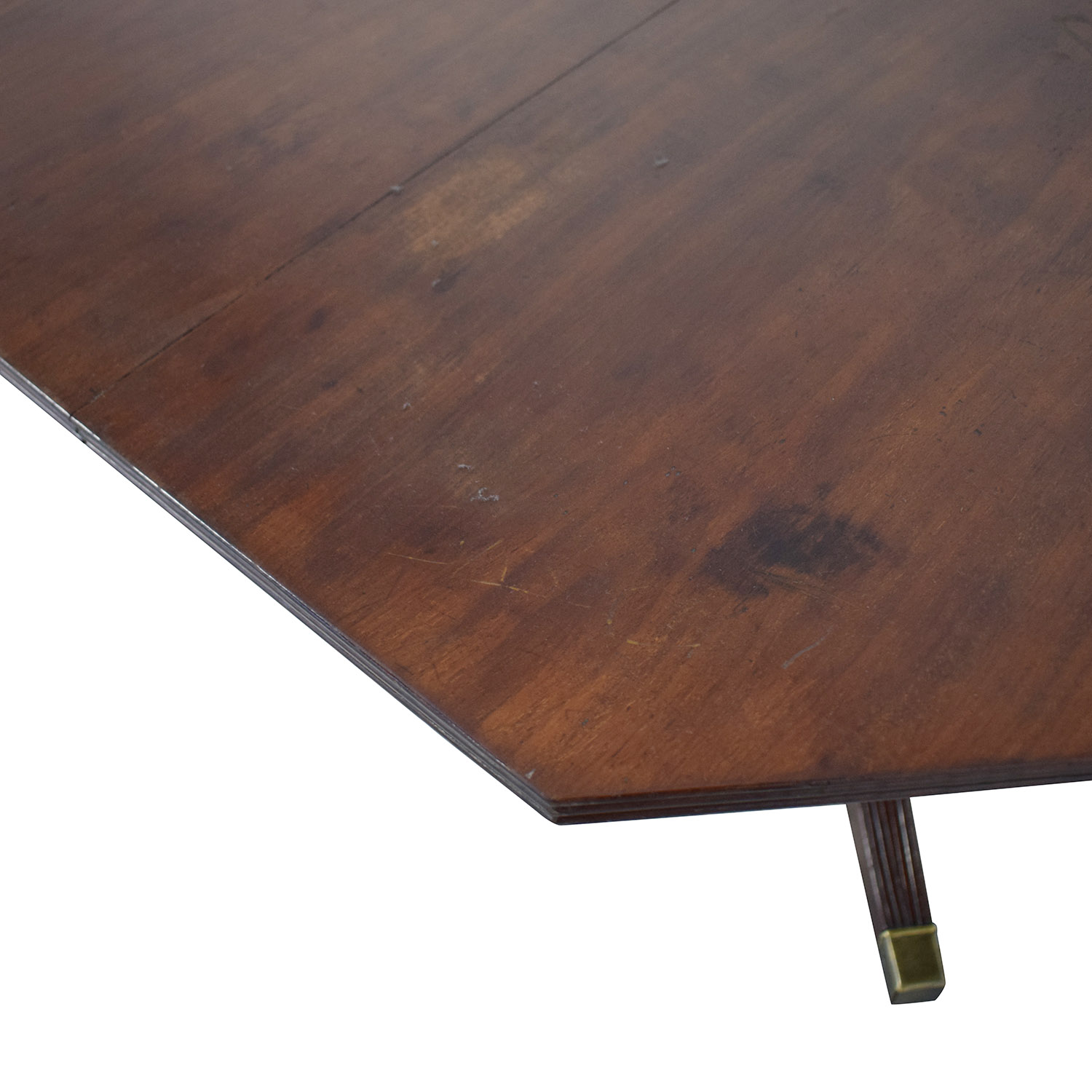 Round Vintage Mahogany Wooden Dining Room Table Dinner Tables