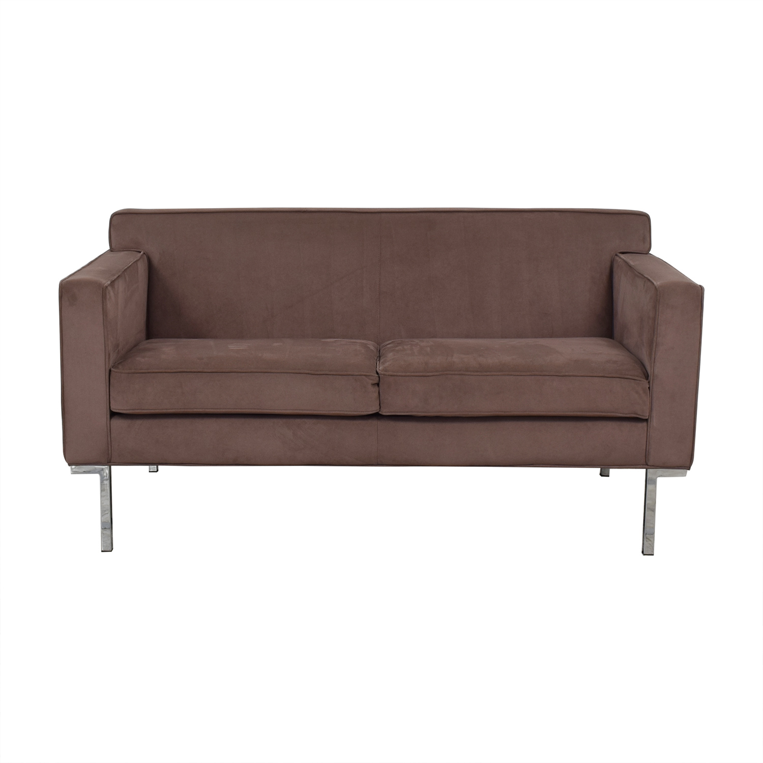 Design Within Reach Theatre Suede Two-Seater Sofa Design Within Reach