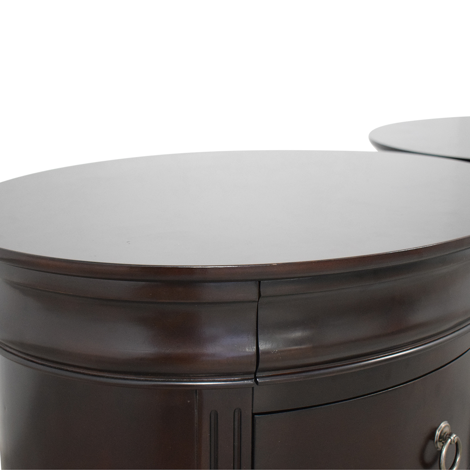 Winners Only Winners Only Round End Tables with Drawers End Tables