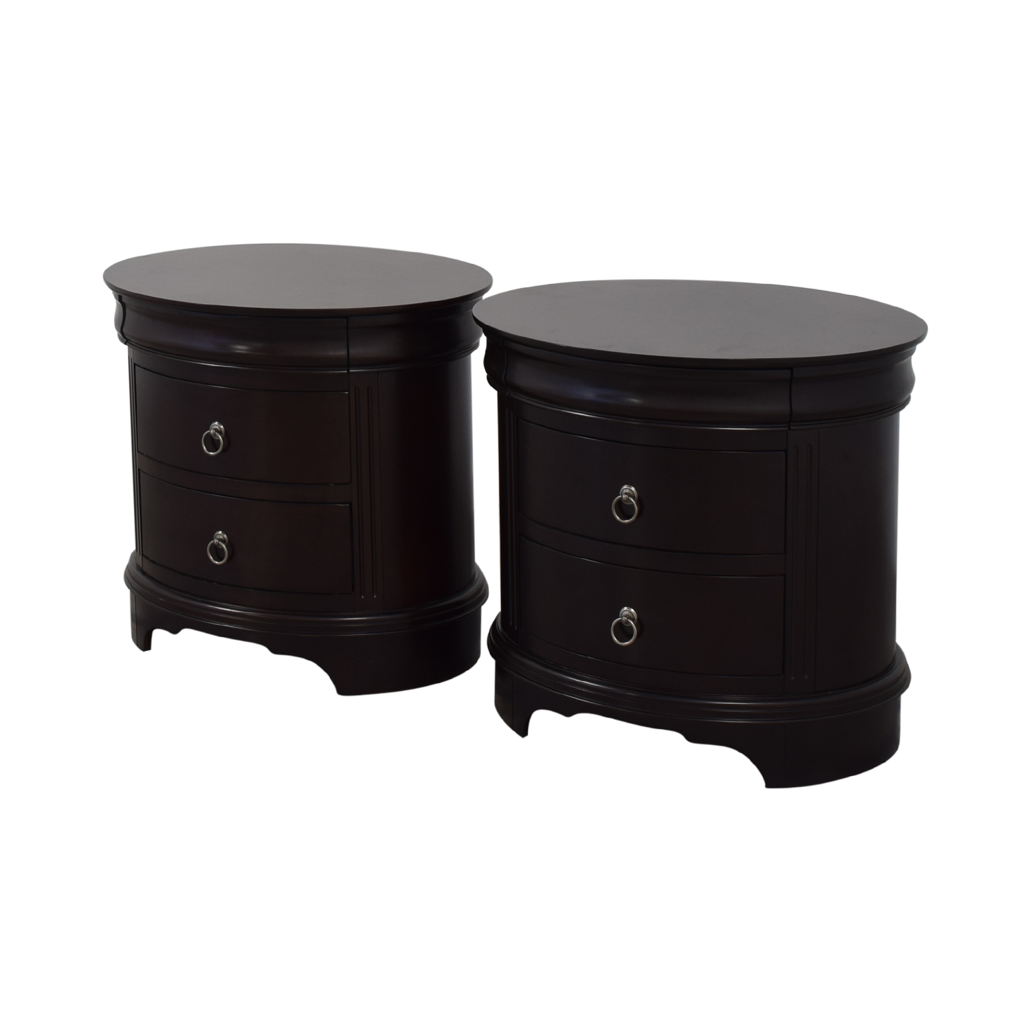 Winners Only Round End Tables with Drawers / End Tables