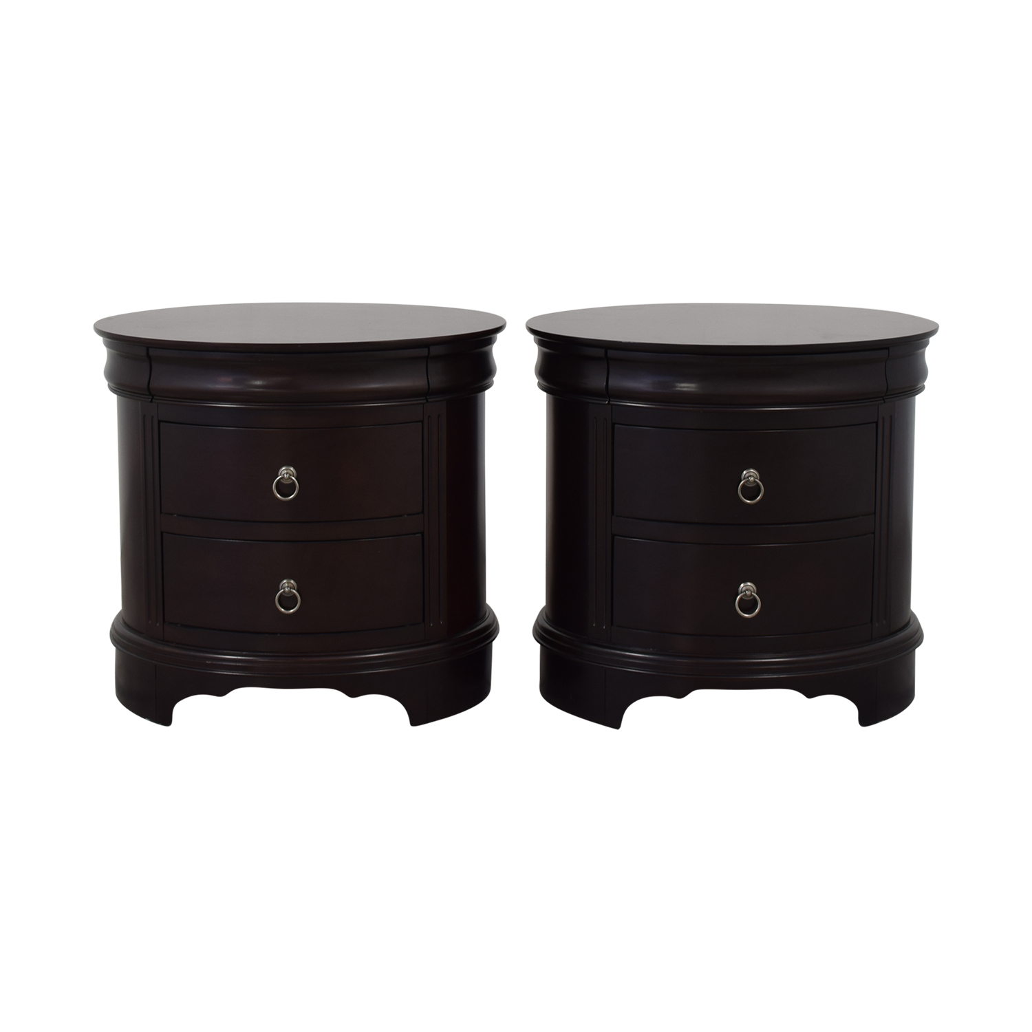Winners Only Winners Only Round End Tables with Drawers second hand