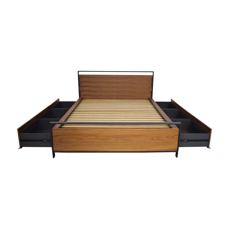 Crate & Barrel Crate & Barrel Queen Storage Bed for sale